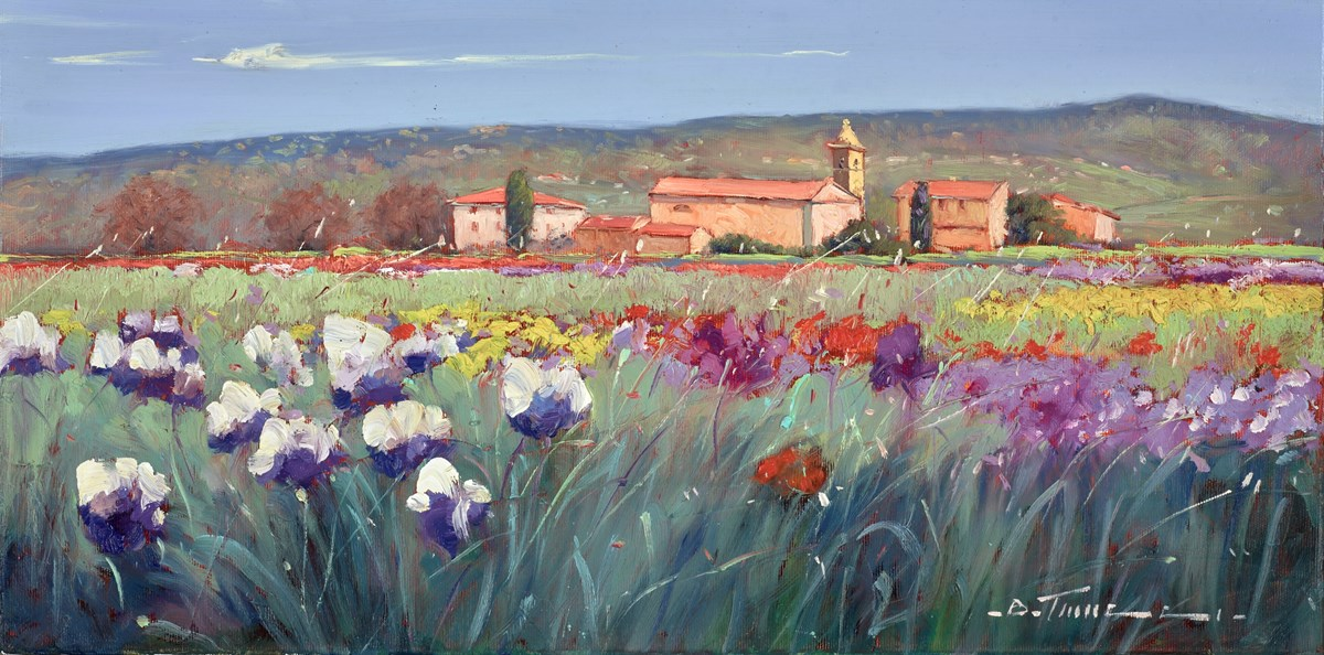 Una Casa in Toscana I by bruno tinucci -  sized 24x12 inches. Available from Whitewall Galleries